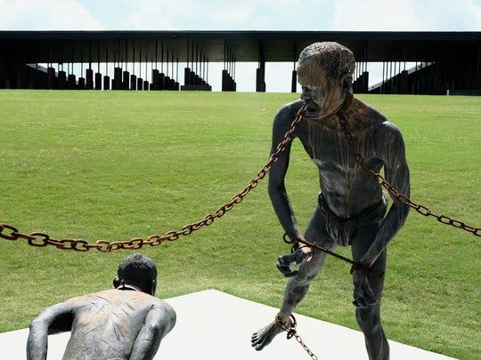 Sculptures by Ghanaian artist Kwame Akoto-Bamfo on