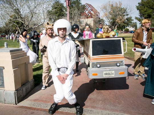 The Spaceballs team remained committed to character for the Phoenix Idiotarod at Margaret T. Hance Park on Saturday, February 10, 2018.