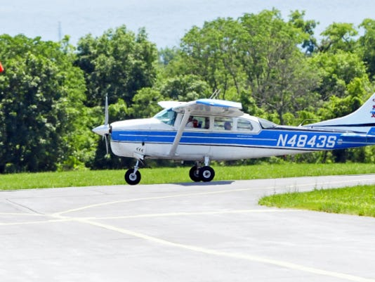 A jump plane taxis along the runway at Franklin County Regional Airport, Friday, June 20, 2014.  Markell DeLoatch - Public Opinion
