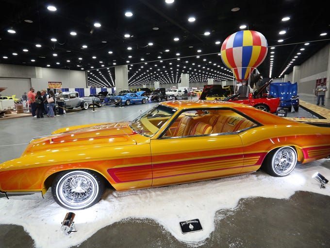 A 1966 Buick Riviera is featured at the Carl Casper Custom Auto Show at the Kentucky Fair and Exposition center in Louisville. Feb. 21, 2014.