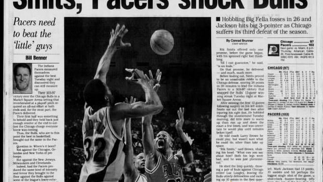 The front of the sports page on December 27, 1995.