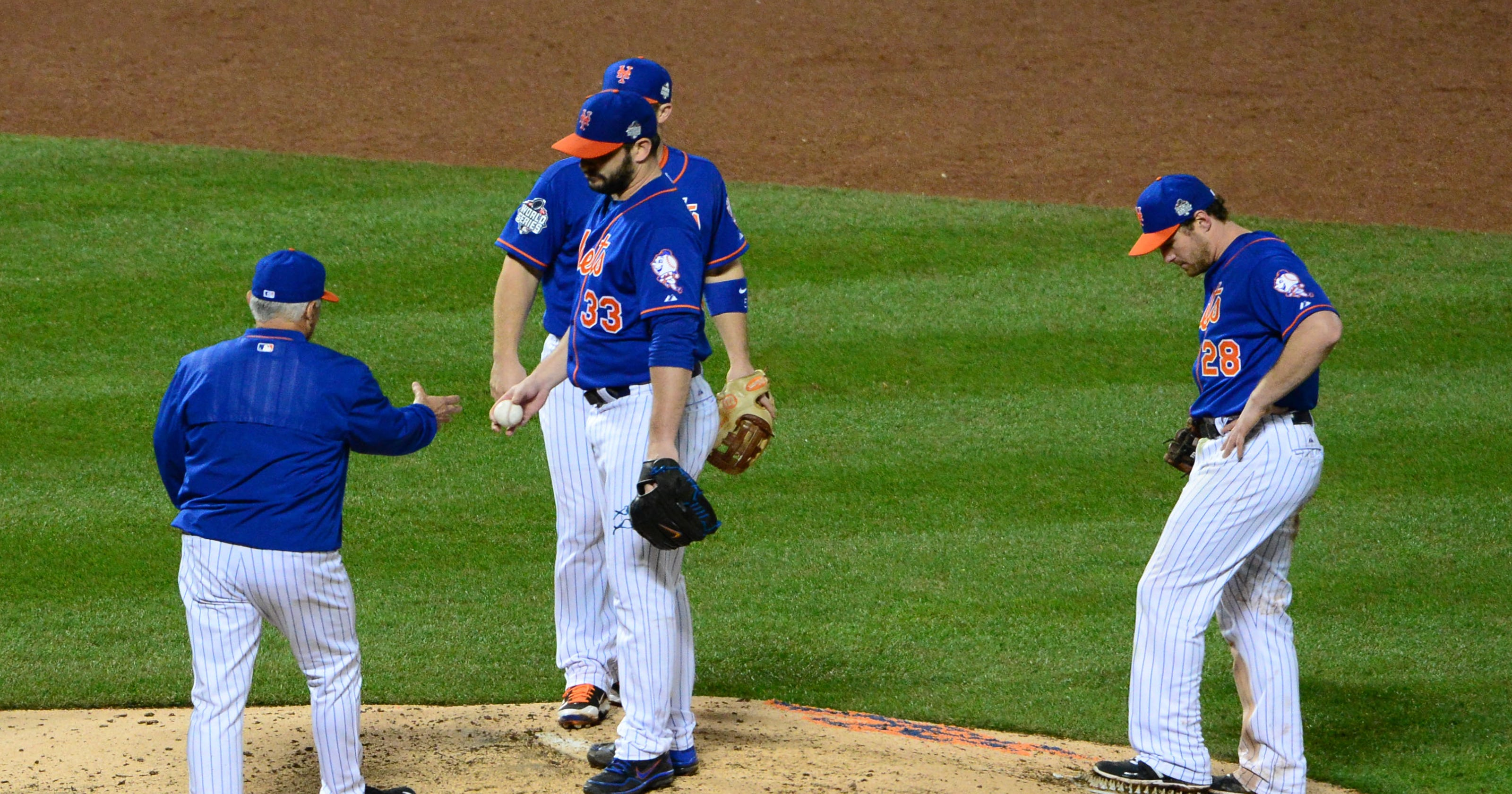 3f10efd64 Mets manager Terry Collins second guesses decision to keep Matt Harvey in  Game 5