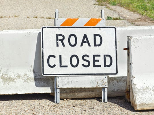 road closed sign JohnnyH5