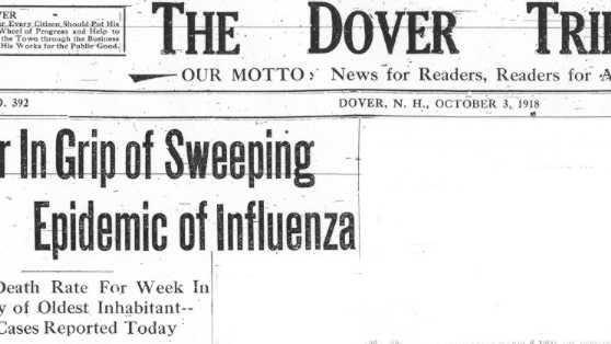 Flu headlines from 1918.