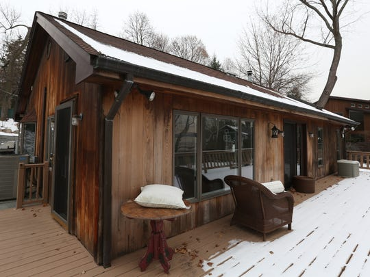 The smallest home in the complex, at 4 Washington Ave.,  has a clear view of the river