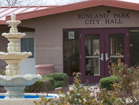 Pictured is the exterior of Sunland Park City Hall.