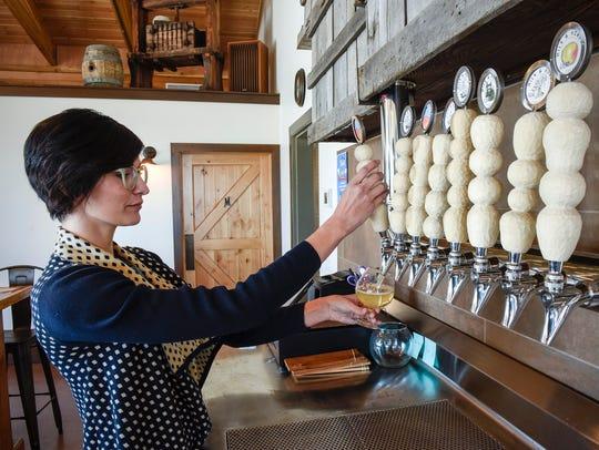 Casey Vanek, taproom manager at Milk & Honey Ciders