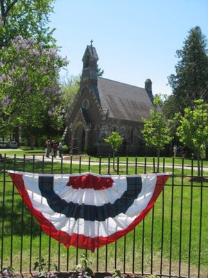 A view of the Louisa Howard Chapel at Lakeview Cemetery during Saturday's open house.
