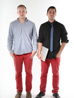 This 2013 file photo shows clusterFlunk founders A.J. Nelson and Joe Dallago.