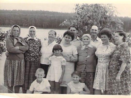 Nina Grigg (Zimbalyk) with family members in 1969.