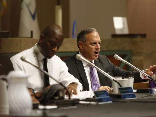 City Commissioner Scott Maddox speaks during Wednesday's