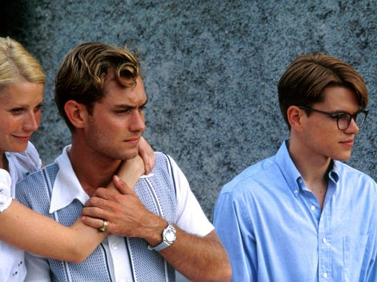 "Boy, they were so young. Jude Law (center) stars in ""The Talented Mr. Ripley"" (1999) with Gwyneth Paltrow and Matt Damon."