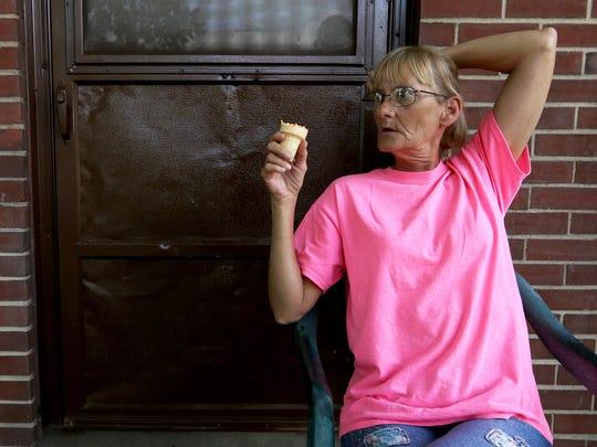 Melonie Bennett, a resident at Peter G. Noll Apartments