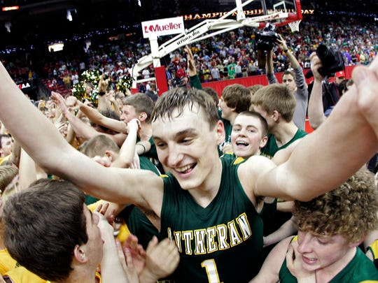 Sam Dekker led Sheboygan Lutheran to the WIAA Division 5 boys state basketball title in 2012, scoring 12 points in the game's closing 50 seconds to lead a comeback win.