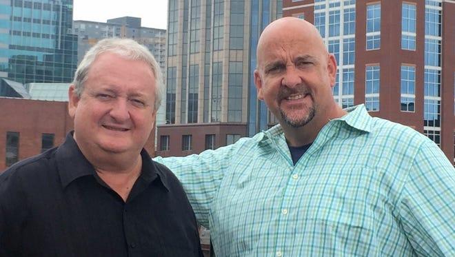 Greg Pogue, left, and Joe Dubin will bring back their sports talk radio show Monday. It will air 9-11 a.m. weekdays on WNSR 560-AM/95.9-FM