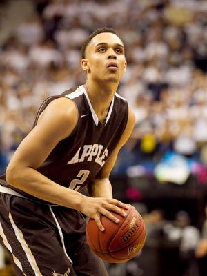 Apple Valley forward Gary Trent Jr. plays March 14, 2015, in Minneapolis.