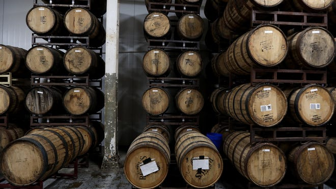 Barrels at Rhinegeist Brewery in Over-the-Rhine.