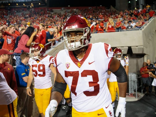 USC tackle Austin Jackson is considered a young but promising talent.