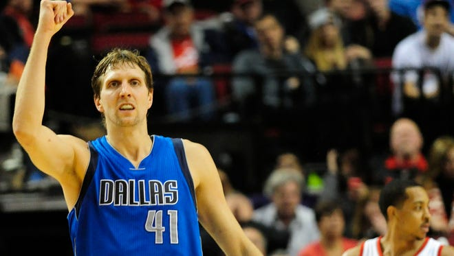 Nowitzki is continuing to dominate in his 18th NBA season.