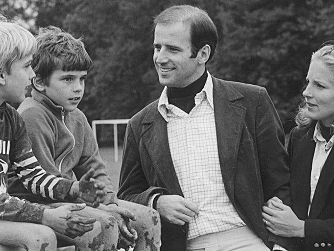 Beau Biden with his dad, Sen. Joe Biden, his brother
