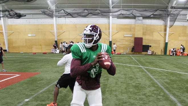 Mississippi State quarterback Elijah Staley opened the door to return to basketball after the football season.