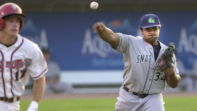 Texas Rangers All-Star Prince Fielder, formerly of the Detroit Tigers, played with the Beloit Snappers in Lansing in April of 2003.