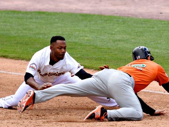 York Revolution vs Long Island Ducks in Atlantic League baseball