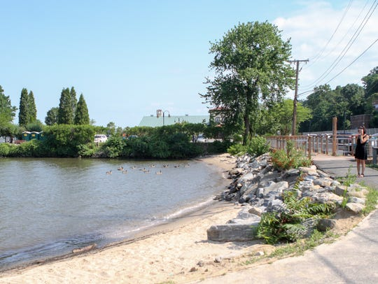 MacEachron Waterfront Park offers a small beachfront