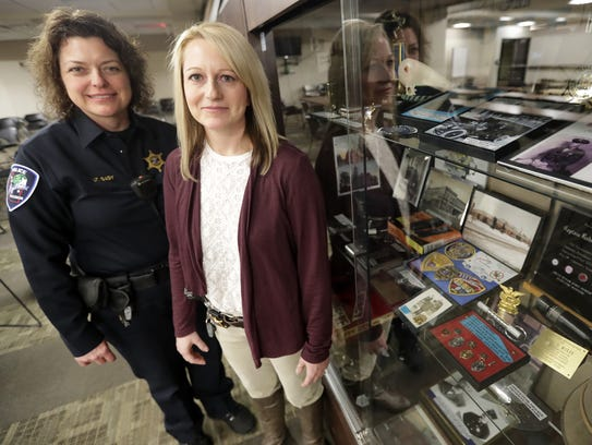Appleton Police Lt. Kelly Gady, left, and Lt. Polly