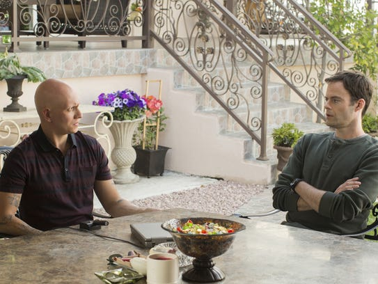 Noho Hank (Anthony Carrigan), left, wants to be friends