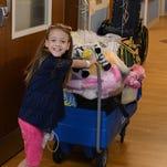 Girl going home after kidney transplant
