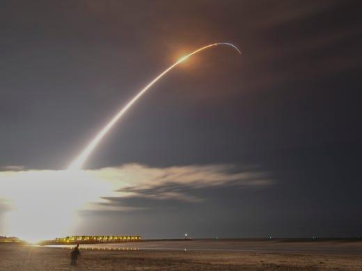 Launch of the Orbital ATK Minotaur IV rocket from