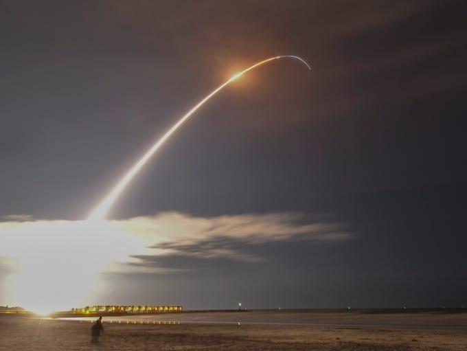 Launch of Orbital ATK's   Minotaur IV rocket  from