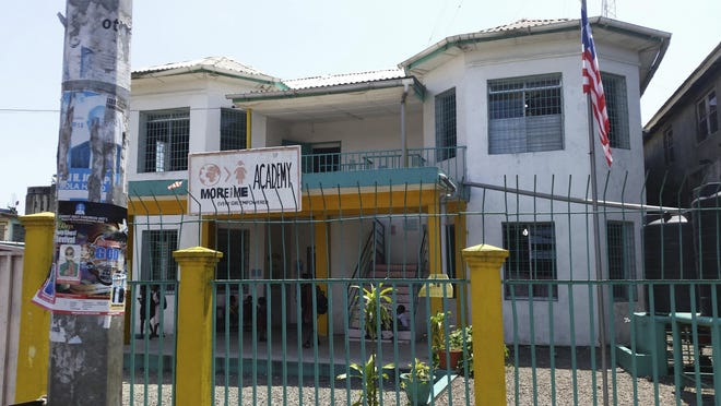 This Oct 12, 2018 file photo shows the More Than Me Academy in Monrovia, Liberia. On Friday, April 19, 2019, Katie Meyler, who established the charity to help vulnerable girls in Liberia, announced her resignation in the wake of allegations that a staffer raped several girls in its care.