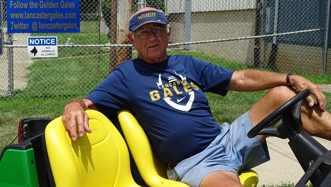 Lancaster's Bill Sampson is the long-time equipment manager for the Golden Gales' football team.