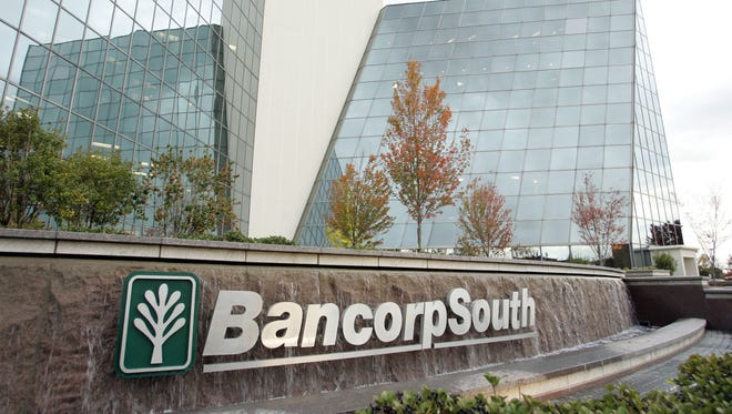 This 2006 photo shows the exterior of the BancorpSouth headquarters in Tupelo, Miss.
