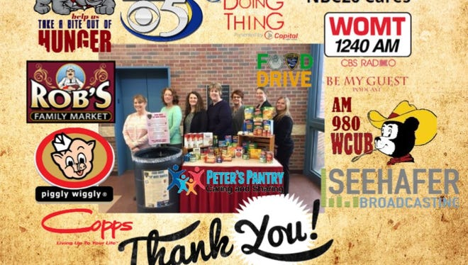 Manitowoc Police Department's food drive collected 1,718 pounds of food in January.