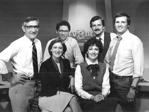 Mollie Cooney (front left) with an anchor team in the