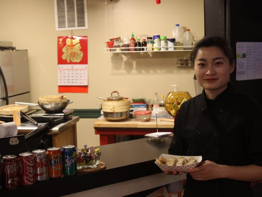 Jingrong Riggs and her husband Jody Riggs opened Yummy Dumpling Feb. 27 in the basement of the Reed Opera House.