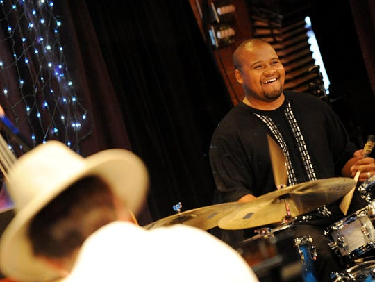 FREELANCELocal jazz drummer Sean Dobbins (cq) performs