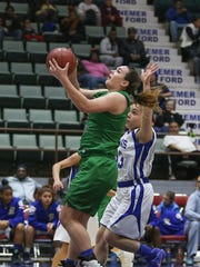 Seton Catholic Central's Julia Hauer drives to the