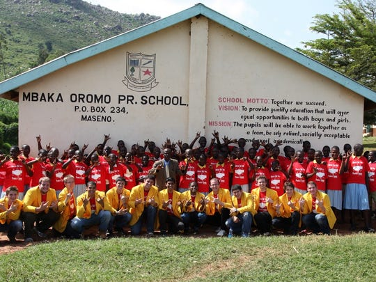 The YellowJackets, an a capella group from the University of Rochester, visited the Mbaka Oromo Primary School in Maseno, Kenya, in 2011.