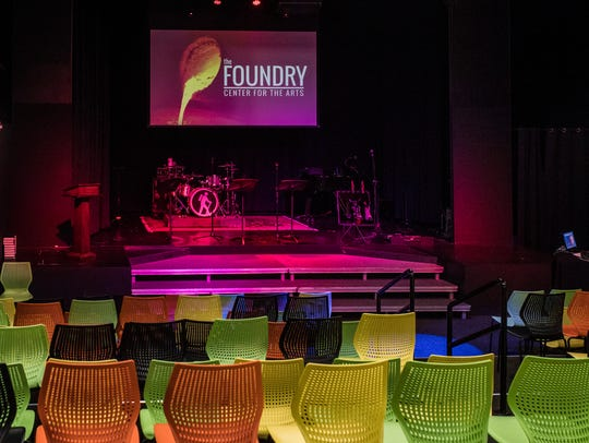 The Rinehart Theater holds up to 150 people at the