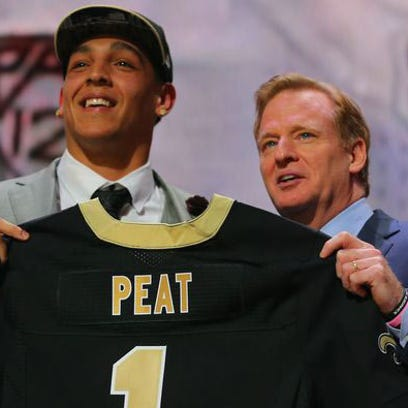 Andrus Peat at the draft in Chicago.