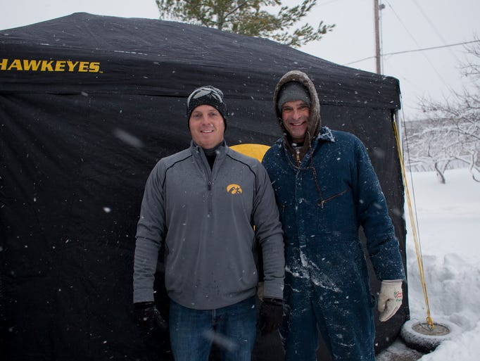 Todd Keppler and Dave Johnson tailgate before the Iowa
