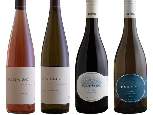 Paraiso Vineyards Rose,Riesling, Pinot Noir and Chardonnay.