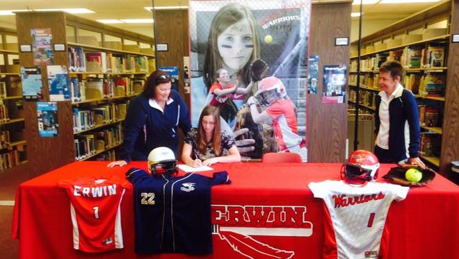 Erwin senior Sydney McAbee has signed to play college softball for Montreat.