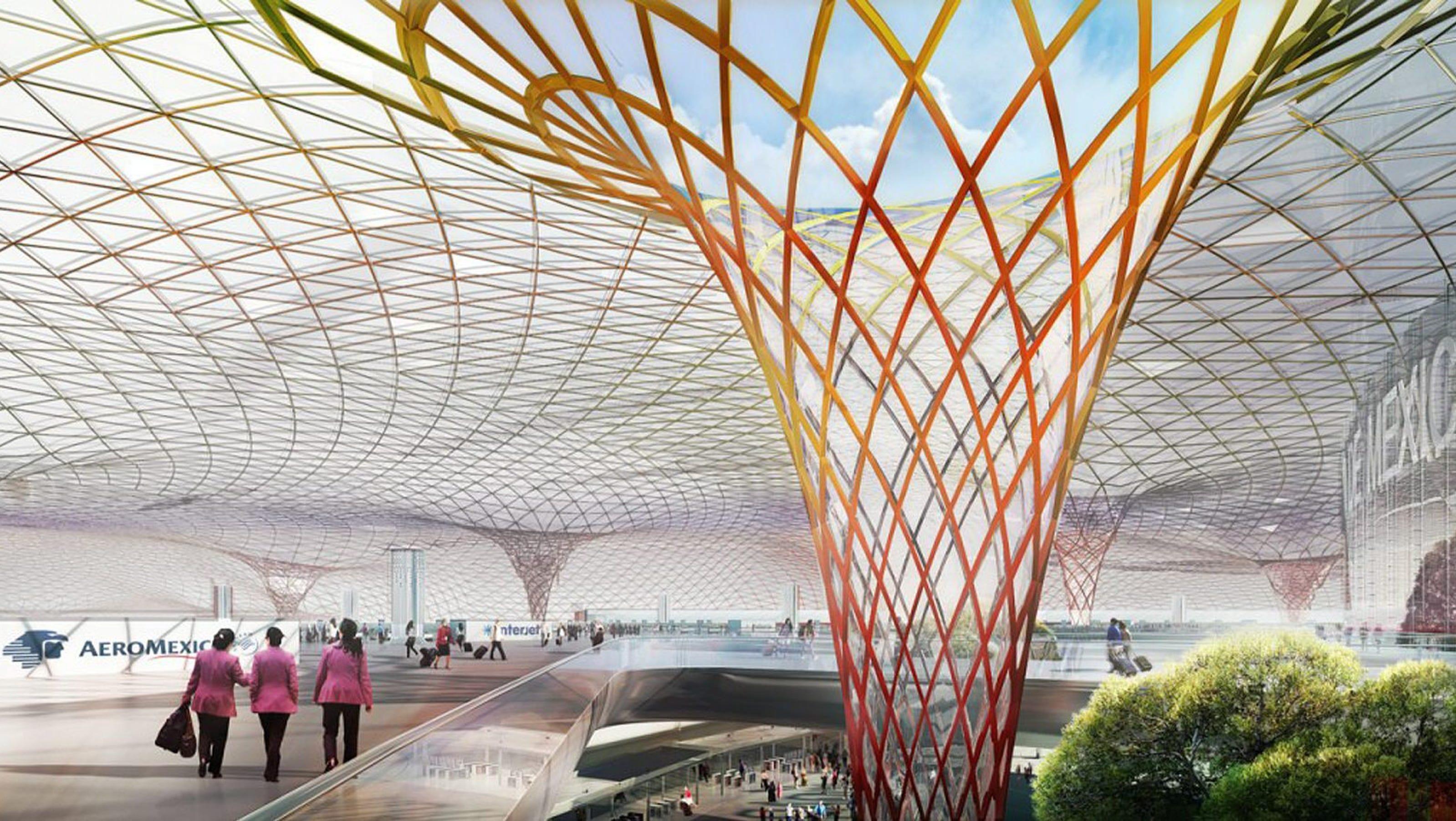 Norman foster romero to build mexico airport for Puerta 6 aeropuerto ciudad mexico