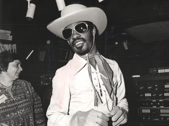 """Stevie Wonder in 1976, the year """"Songs in the Key"""