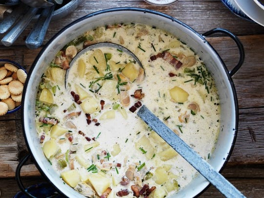 New England clam chowder is a staple of the region.
